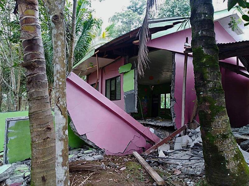 崩壊した保育園